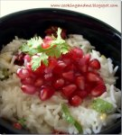 Curd Rice with Pomegranates