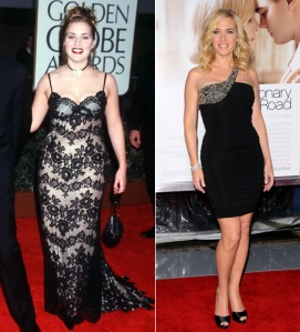 "Kate Winslet at ""Titanic"" premiere and now"